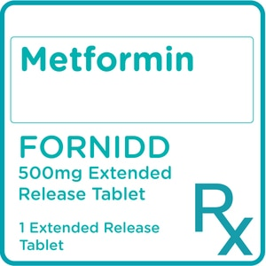 FORNIDDMetformin hydrochloride 500mg 1 Extended-Release Tablet [PRESCRIPTION REQUIRED],Diabetes