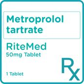 Metoprolol Tartrate 50mg 1 Tablet [PRESCRIPTION REQUIRED]