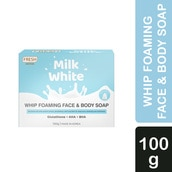 Milk White Whip Foaming Face and Body Soap 100g