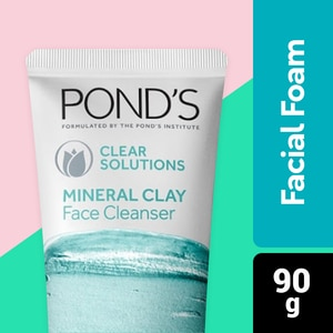 PONDSPonds Clear Solutions Mineral Clay Facial Foam 90g,For WomenSummer Glow