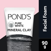 Ponds Pure White Mineral Clay Facial Foam 90g