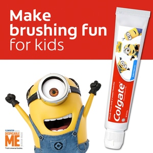 COLGATEMinions Kids Toothpaste 40g,Baby and Kids' Toothbrush and ToothpasteClean Beauty