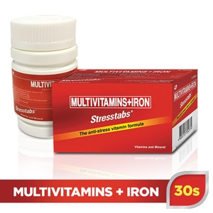 STRESSTABSStresstabs Multivitamins + Iron 30 Tablets,Multivitamins and Overall WellnessBest Selling Products