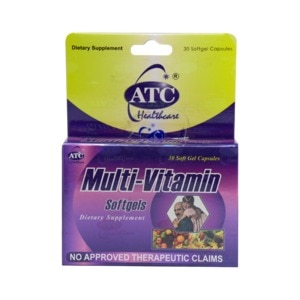 ATC HEALTHMultivitamins Softgel Capsules x 30 Capsules/Box,Multivitamins and Overall Wellness