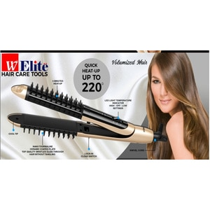 W ELITE2-in-1 Multi Hairstyle Tool,Electric Hair Straightner and CurlerHELLOWT