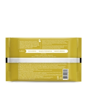 NATURALS WSNaturals Rice Bran and Soy Bean Illuminating Makeup Removal Wipes 20 sheets,Make up removerClean Beauty
