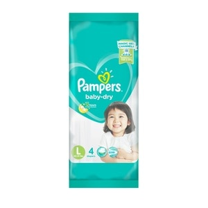 PAMPERSBaby Dry Taped Diaper Large 4,Baby Bath