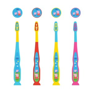 PEPPA PIGToothbrush Kids with Suction Cup 1pc,Baby and Kids' Toothbrush and Toothpaste