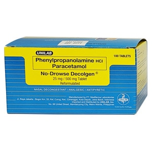 DECOLGENPhenylpropanolamine HCI Paracetamol No-Drowse Decolgen PPA 25mg 500mg,Cough, Cold and FluBuy 20 caps get 20%