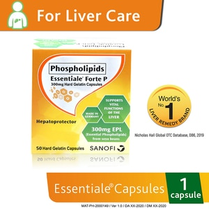 ESSENTIALEEssentiale Forte P Phospholipids 300mg 1 Capsule,Liver HealthBest Selling Products
