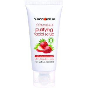 HUMAN NATUREPurifying Facial Scrub with Strawberry Seeds 50g,For WomenFree (1) Watsons Dermaction Plus Antiacne St20x2 for every purchase of Skin Care products