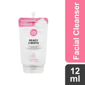 CATHY DOLLReady 2 White Lightening Foam Cleanser 12ml,For WomenFree (1) Watsons Dermaction Plus Antiacne St20x2 for every purchase of Skin Care products