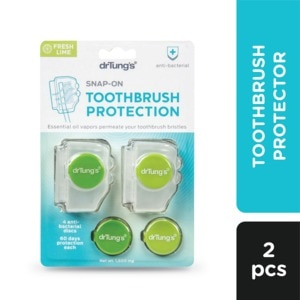DR TUNGSSnap-On Toothbrush Protector For Adults 2pcs,Toothbrush