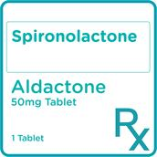 Spironolactone 50mg 1 Film-Coated Tablet [PRESCRIPTION REQUIRED]