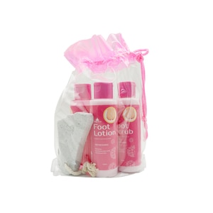 PRETTY SECRETStrawberry and Vanilla Foot Pack with Pumice 4 x 120ml,Foot Care