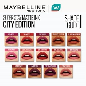MAYBELLINESuperStay Matte Ink City Edition Liquid Lipstick - Ambitious [16HR Waterproof] by Maybelline,Lipstick , Lip Tint and LiplinersWATSONS EMP. DISC.
