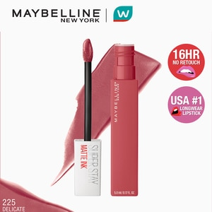 MAYBELLINESuperStay Matte Ink City Edition Liquid Lipstick - Delicate [16HR Waterproof] by Maybelline,Lipstick , Lip Tint and LiplinersWATSONS EMP. DISC.