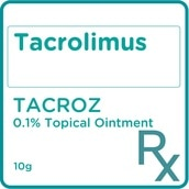 Tacrolimus 0.1% Topical Ointment 10g  [PRESCRIPTION REQUIRED]