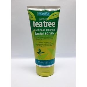 BEAUTY FORMULATea Tree Blackhead Clearing Facial Scrub 150ml,For WomenFree (1) Watsons Dermaction Plus Antiacne St20x2 for every purchase of Skin Care products