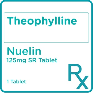 NUELINTheophylline 125mg 1 Sustained Release Tablet [PRESCRIPTION REQUIRED],Respiratory Drugs