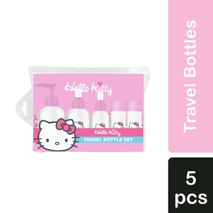 HELLO KITTYTravel Set Bottle with Pouch 5pcs,TravelWATSONS EMP. DISC.