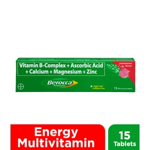 BEROCCABerocca Effervescent Tablet Mixed Berries Flavor 15s,Multivitamins and Overall WellnessBest Selling Products