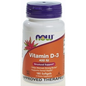 NOWVitamin D3 400 IU 180 Softgels,Multivitamins and Overall WellnessBest Selling Products