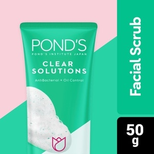 PONDSPonds Clear Solutions Anti-Bacterial Facial Scrub 50g,For WomenSummer Glow