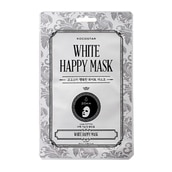 White Happy Face Sheet Mask With Niacinamide