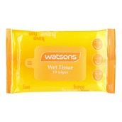 Yellow Wet Tissue 10 Sheets