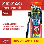 Zigzag Charcoal Infused Bristles Toothbrush