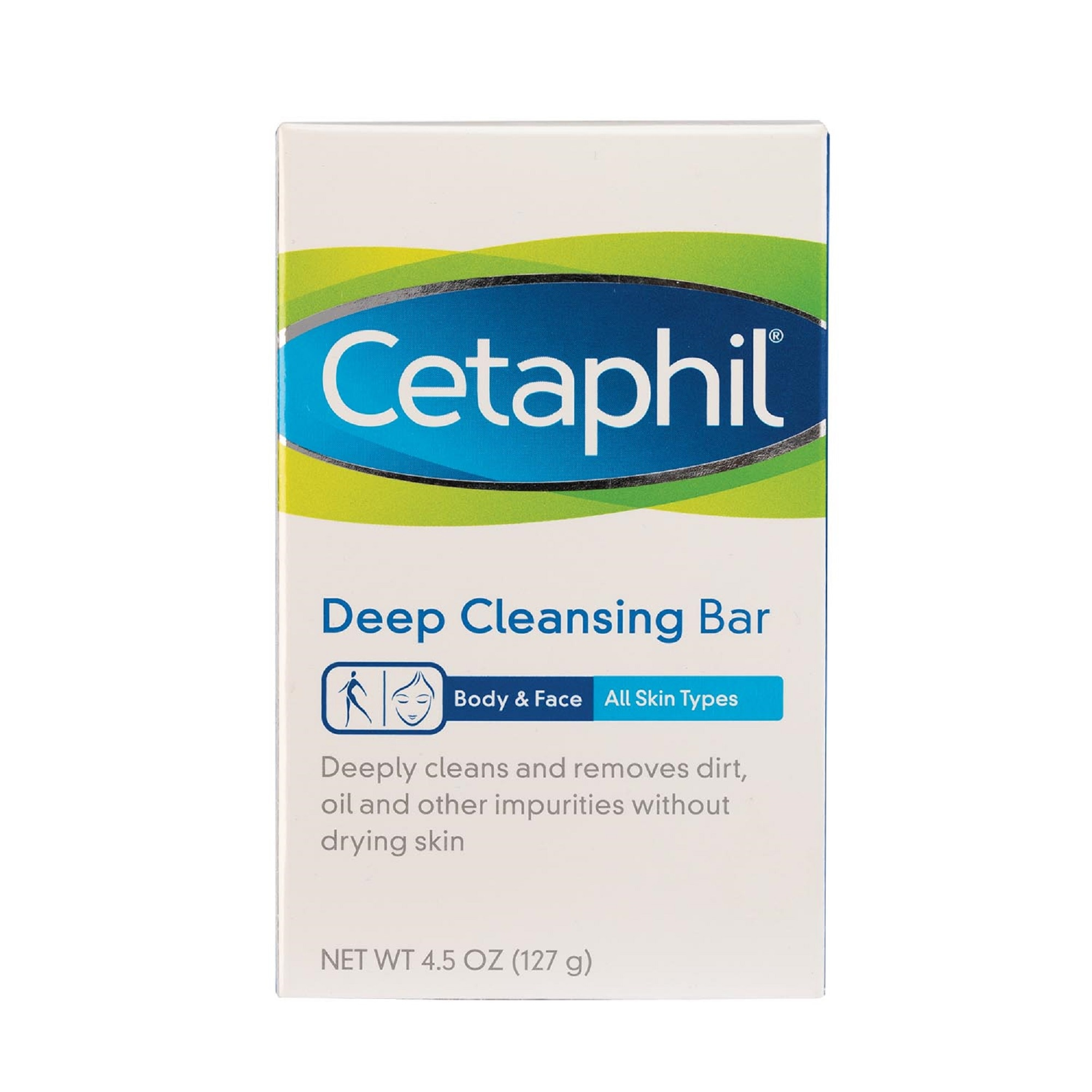 Cetaphil Deep Cleansing Bar 127g [For Dry and Sensitive Skin / Gentle Moisturizing Body Bar Soap]