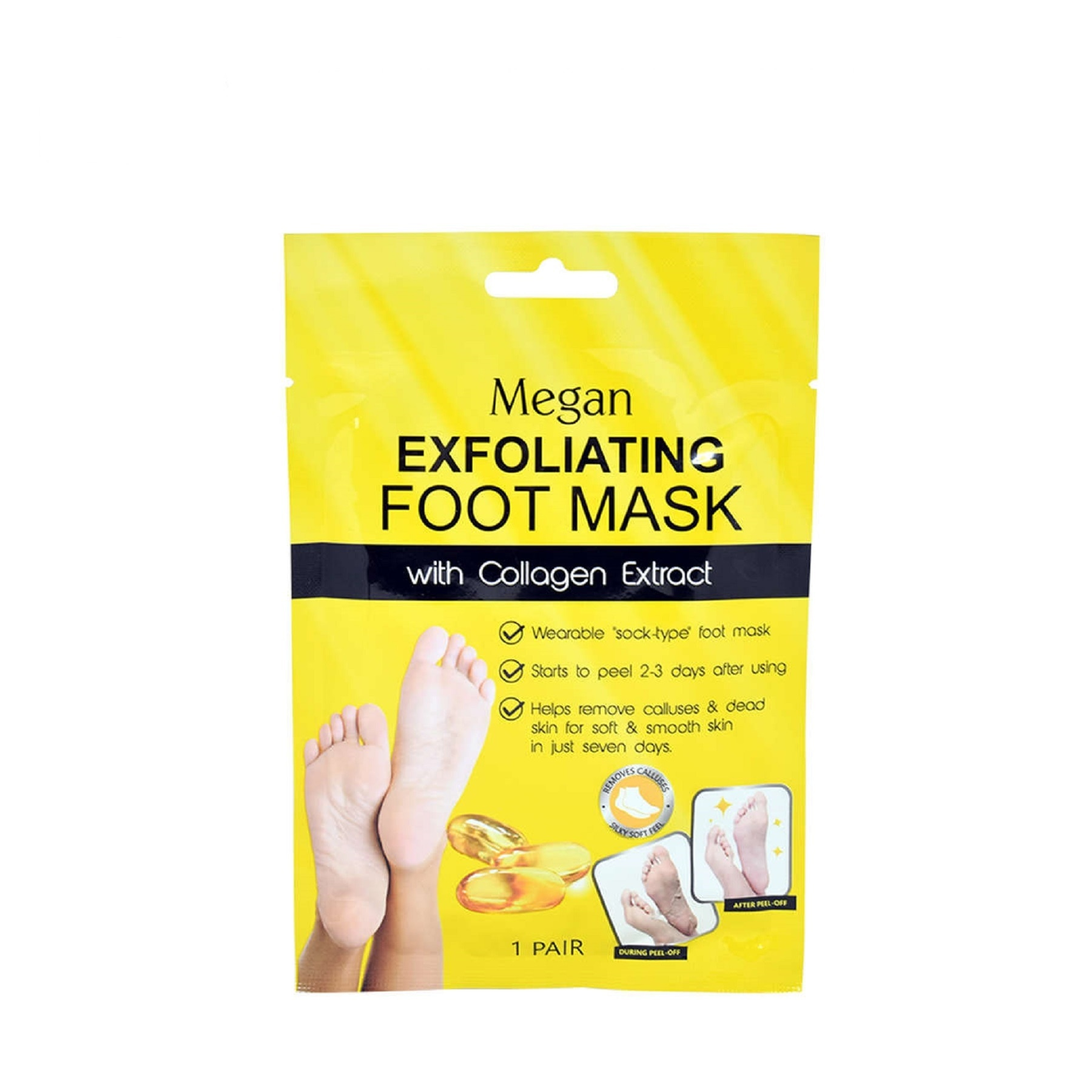 Exfoliating Foot Mask with Collagen 1 Pair