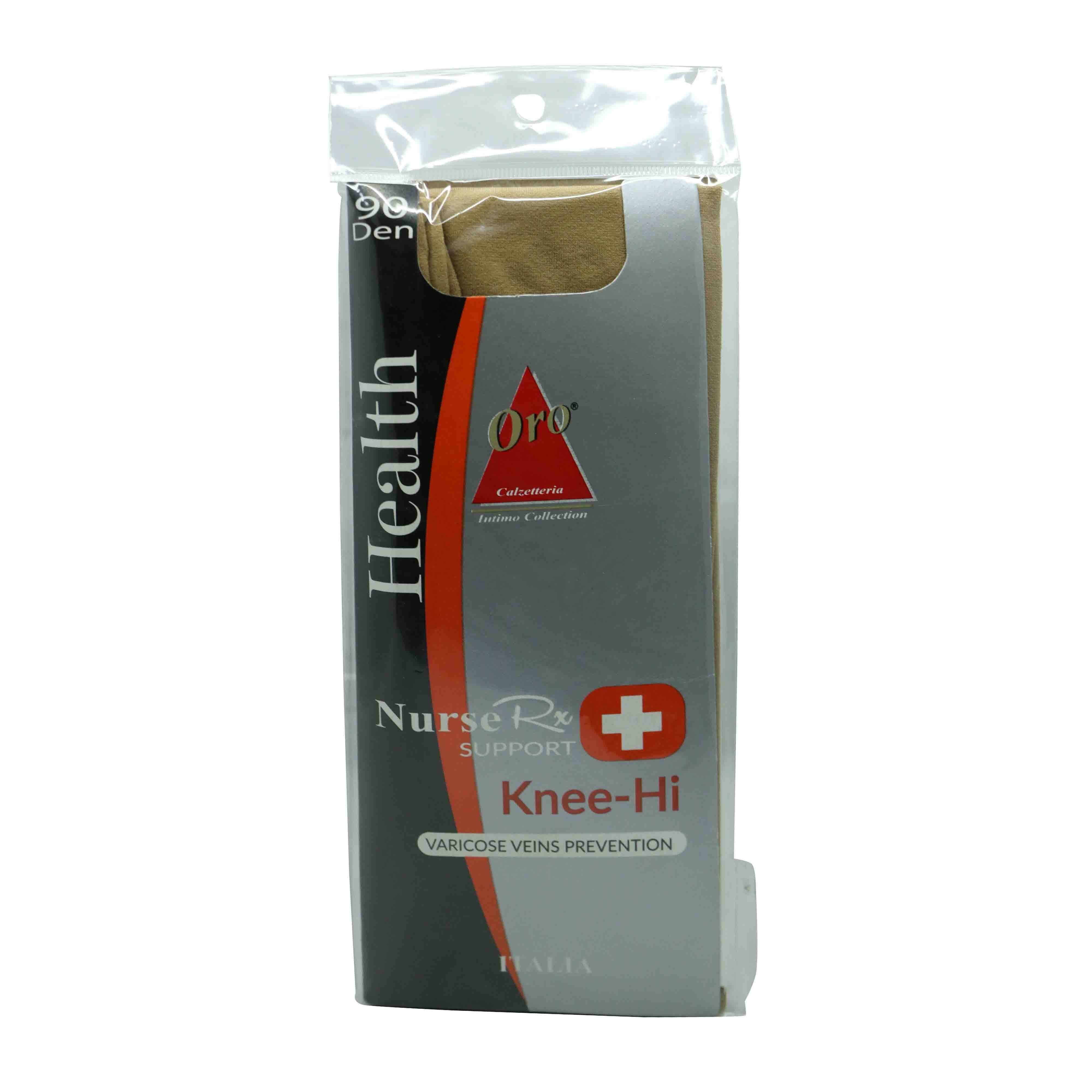 Nurse Rx Support Knee-hi Stockings Naturalle