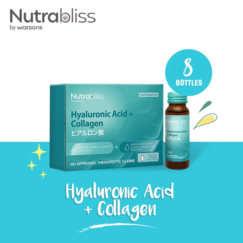 Hyaluronic Acid Food Supplement 8 Ready To Drink Bottles (1 Box)