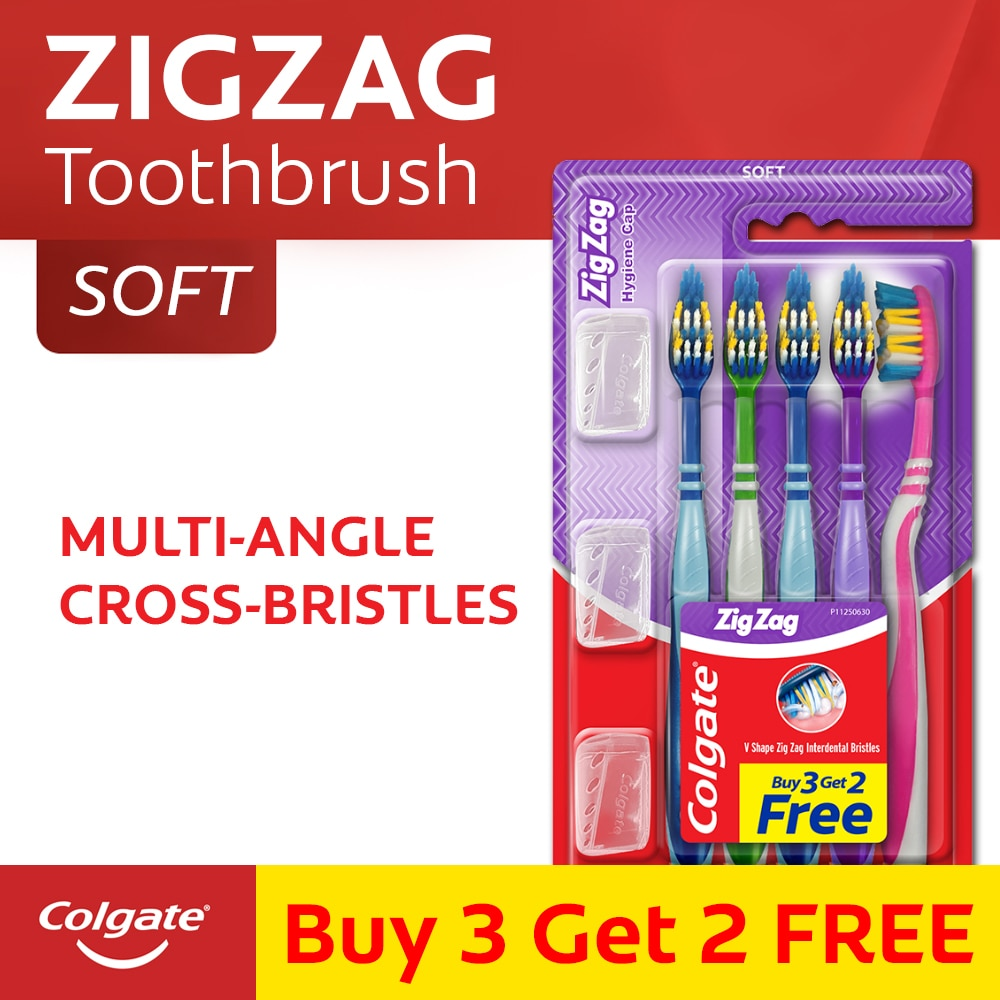 Zigzag Plus Soft Toothbrush with Cap 1 Pack