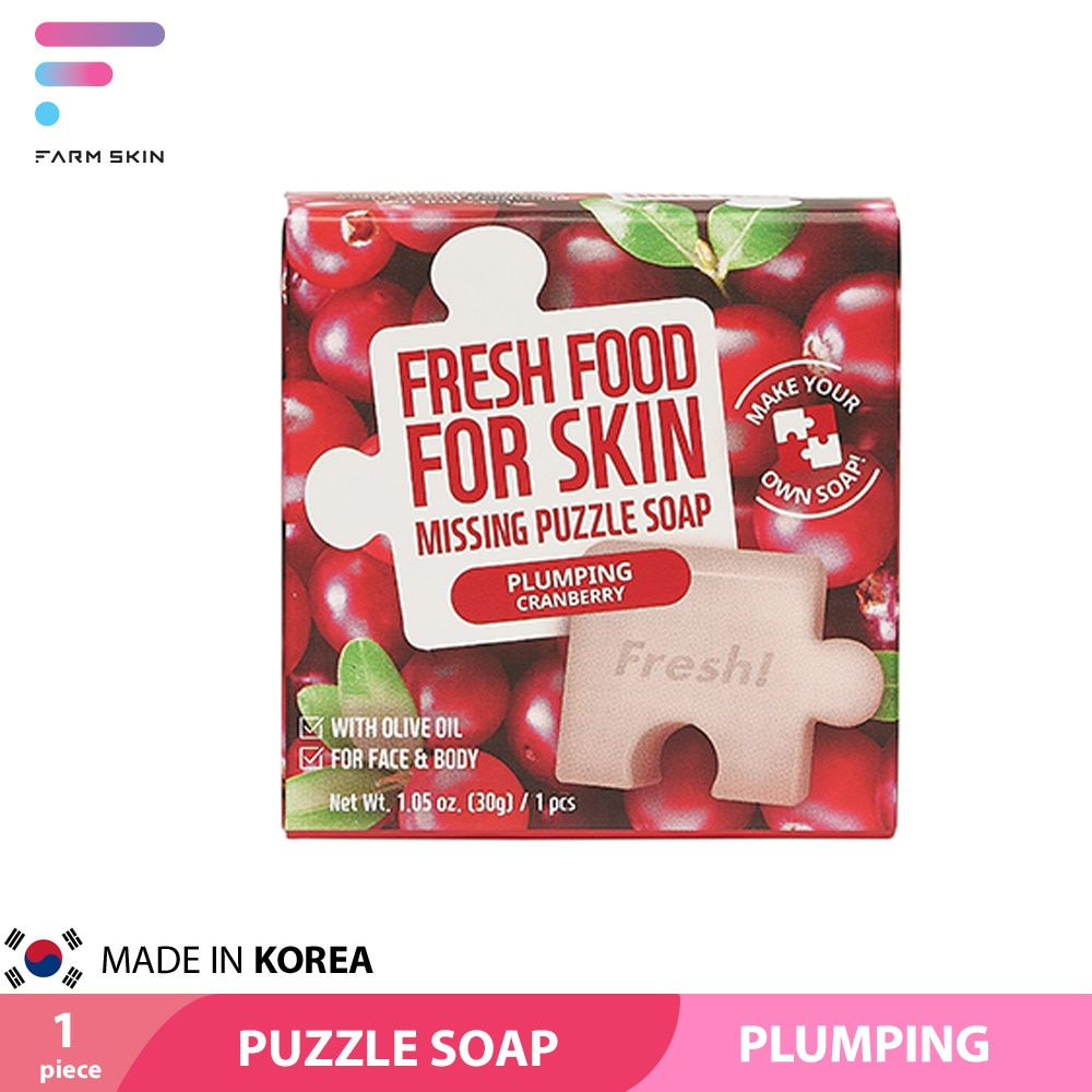 Freshfood For Skin Missing Puzzle Soap Plumping Cranberry 30g