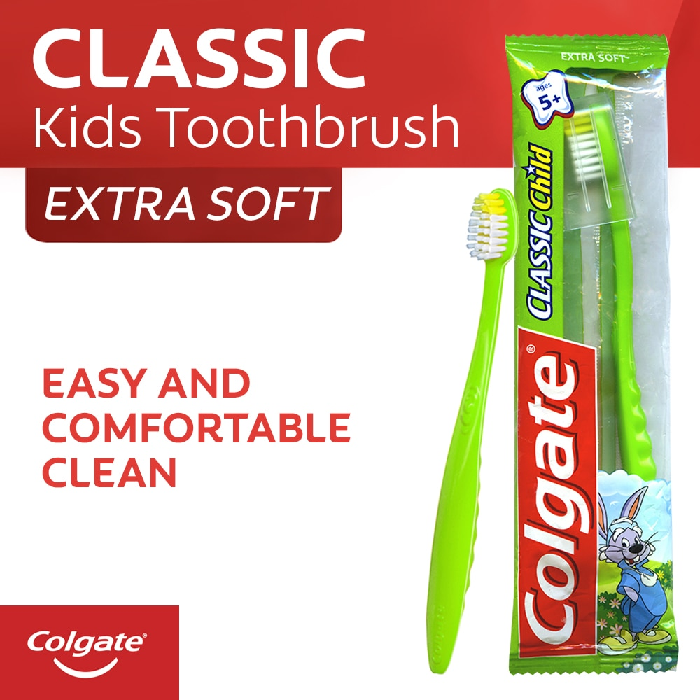 Colgate Classic Child Flow Wrap Kids Toothbrush with cap