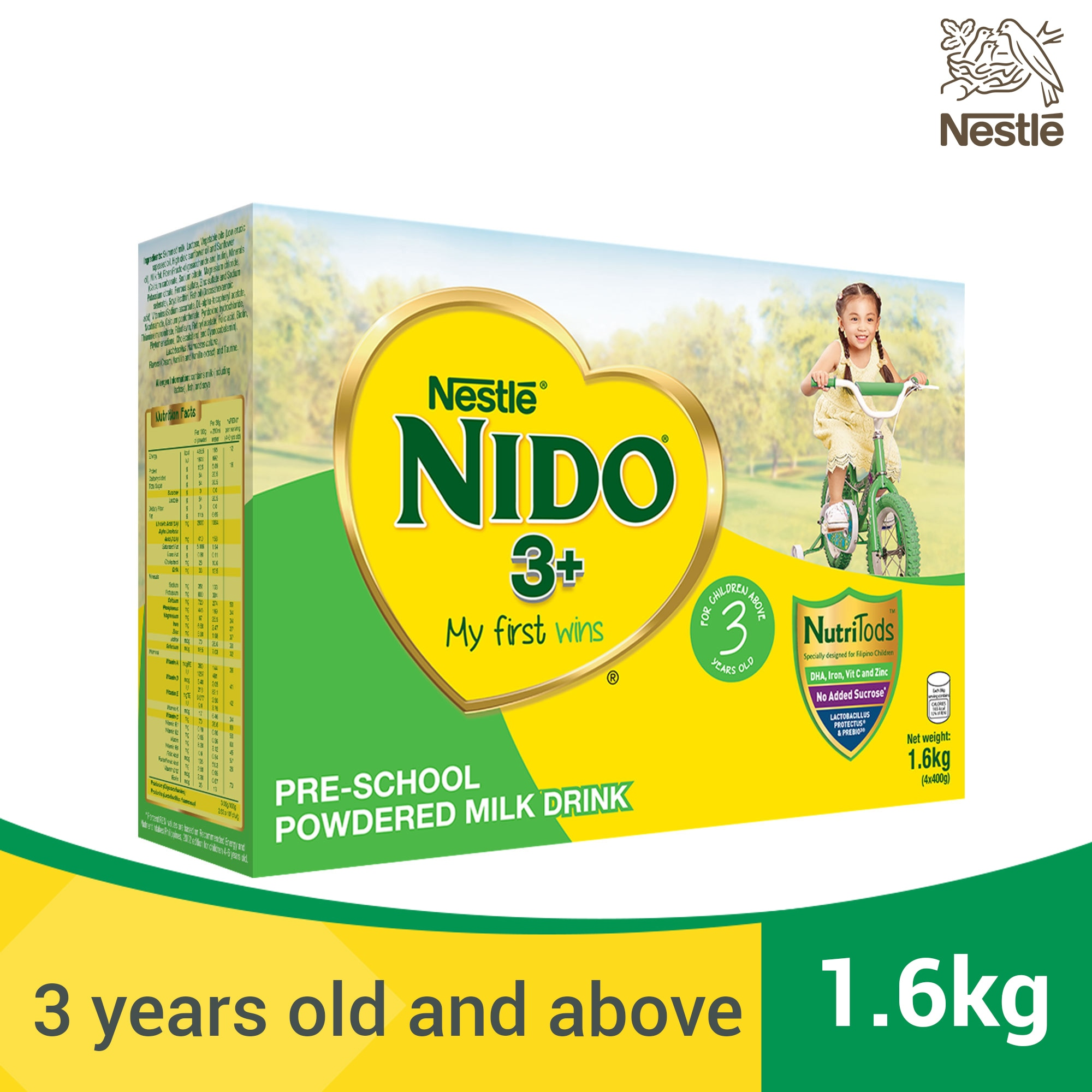 Powdered Milk Drink for Pre-Schoolers Above 3 Years Old 1.6kg