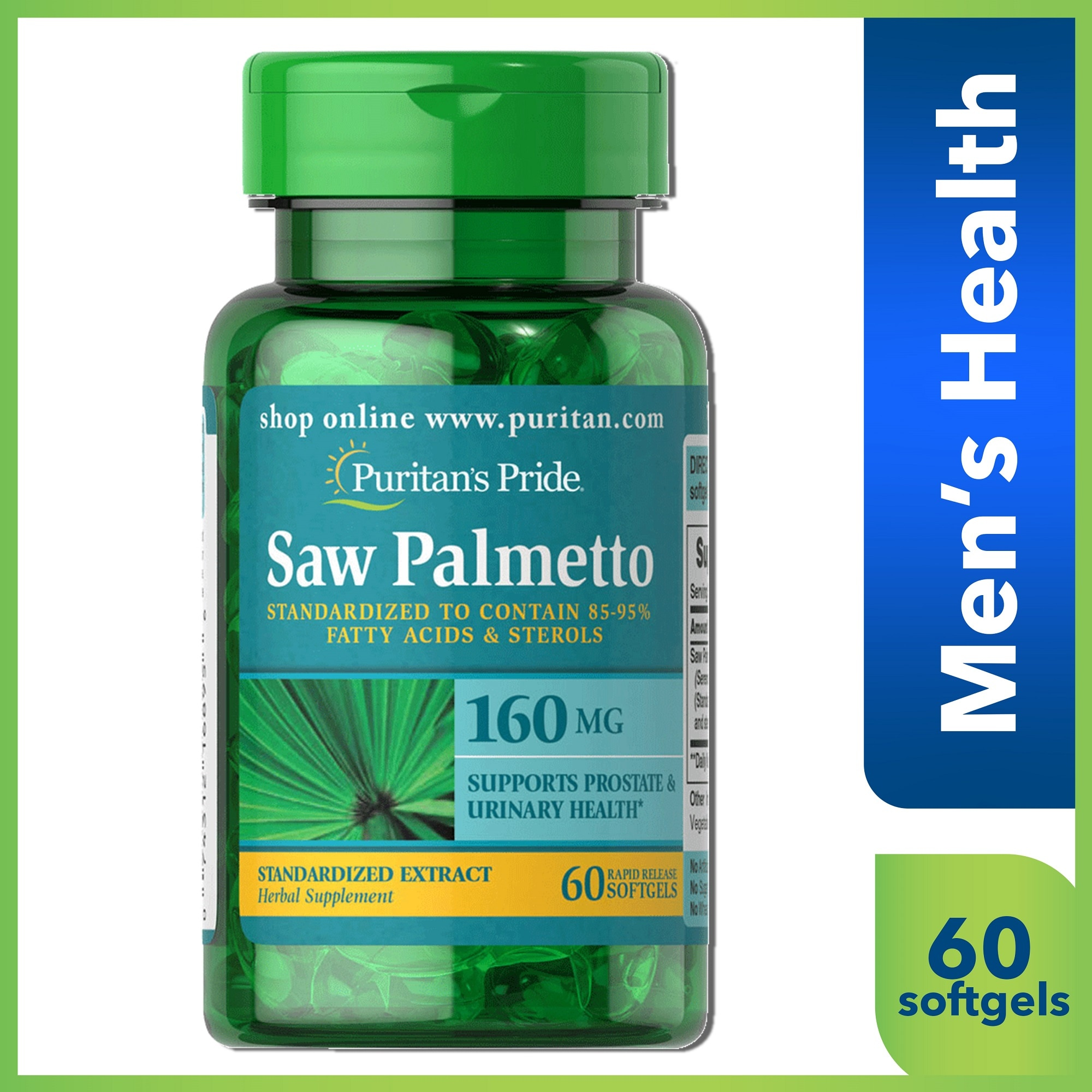 Saw Palmetto Extract 160 mg 60 Softgels