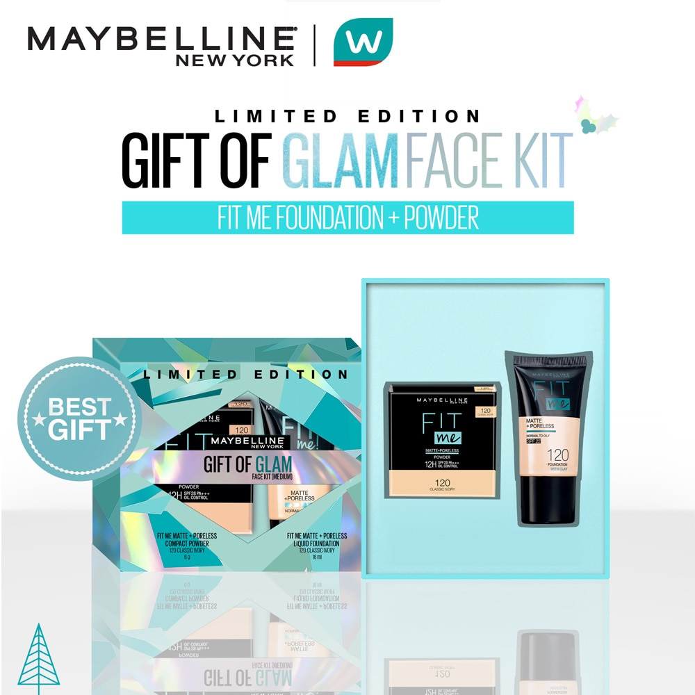 MAYBELLINE - [WATSONS HOLIDAY EXCLUSIVE] Fit Me Tube + Compact Powder Gift of Glam Set (Medium)