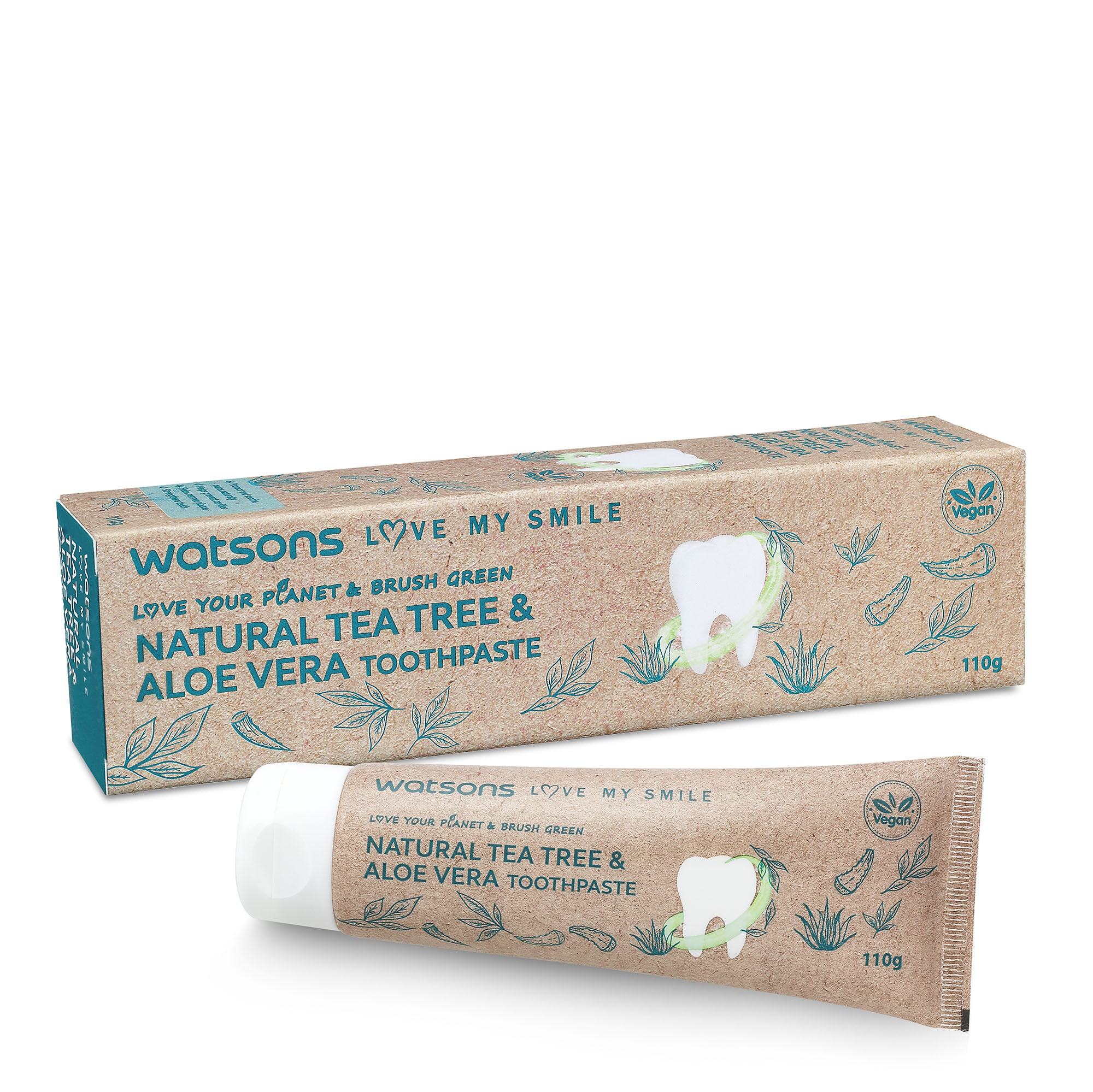 Love my Smile Natural Teatree and Aloe Toothpaste 110G