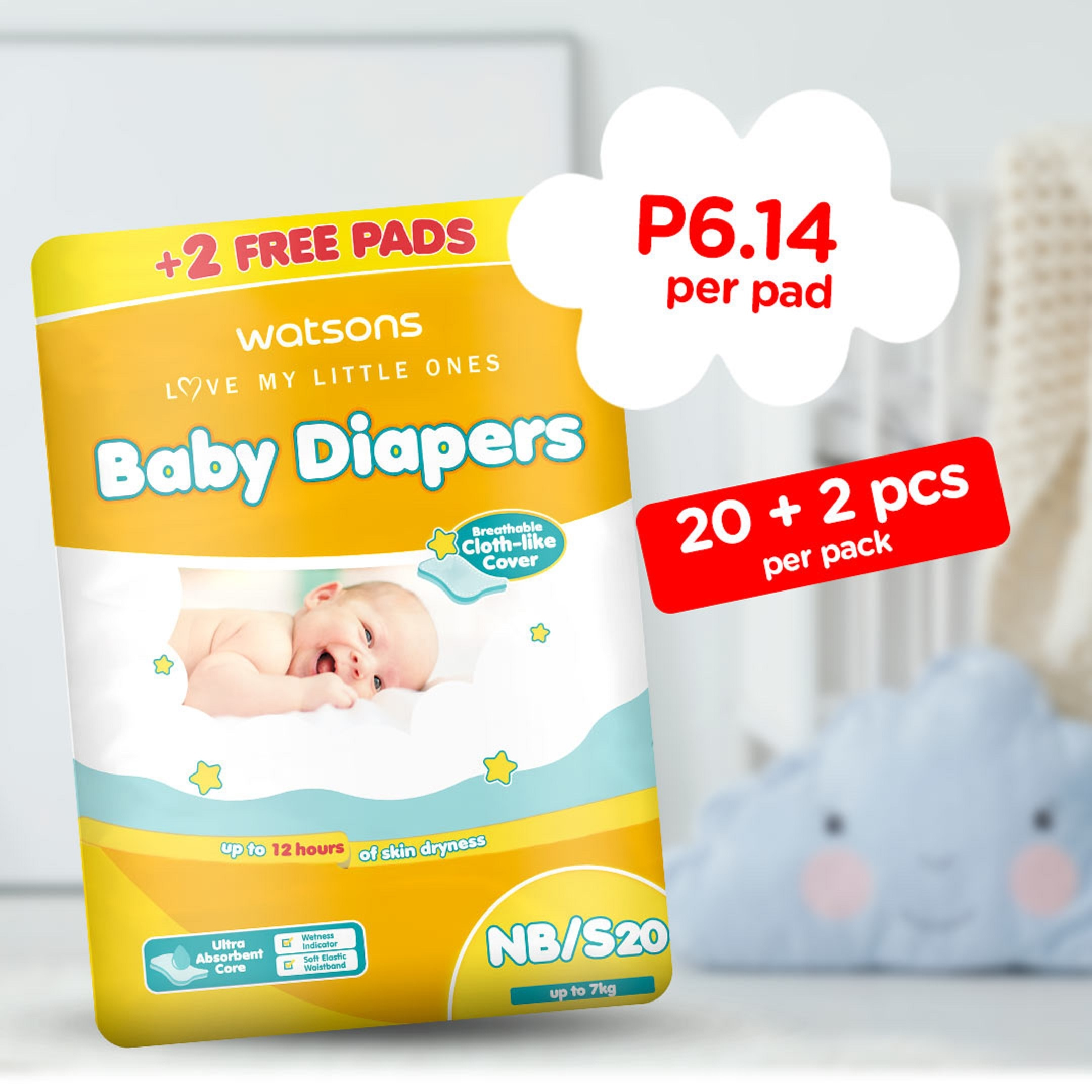 Love My Little Ones Baby Diaper NB/ Small 20+2 Pads