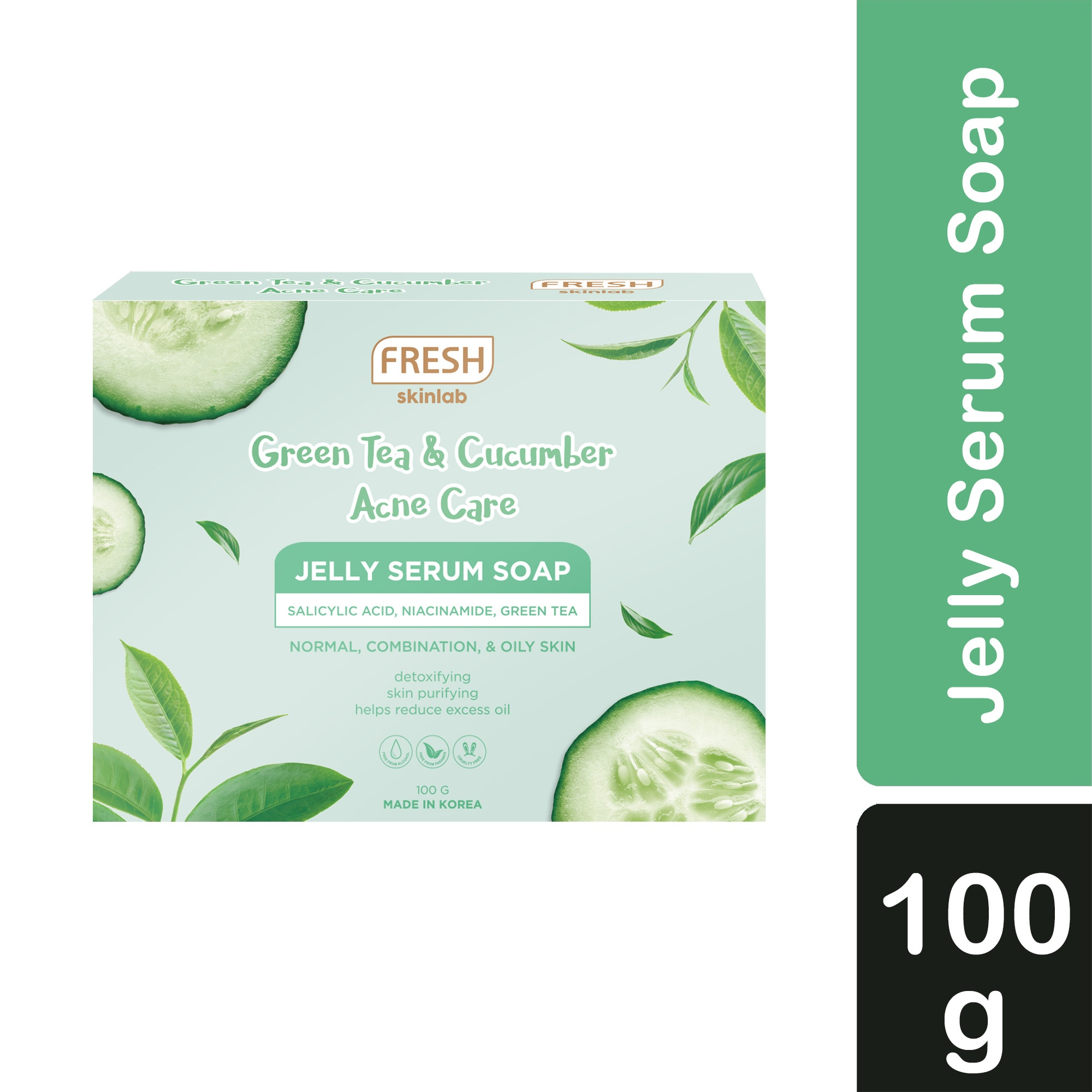 Skinlab Green Tea and Cucumber Acne Care Jelly Serum Soap 100g