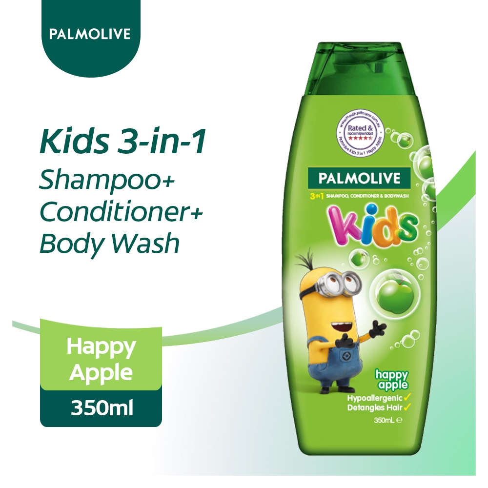 Kids 3-in-1 Shampoo, Body Wash and Conditioner Happy Apple 350ml