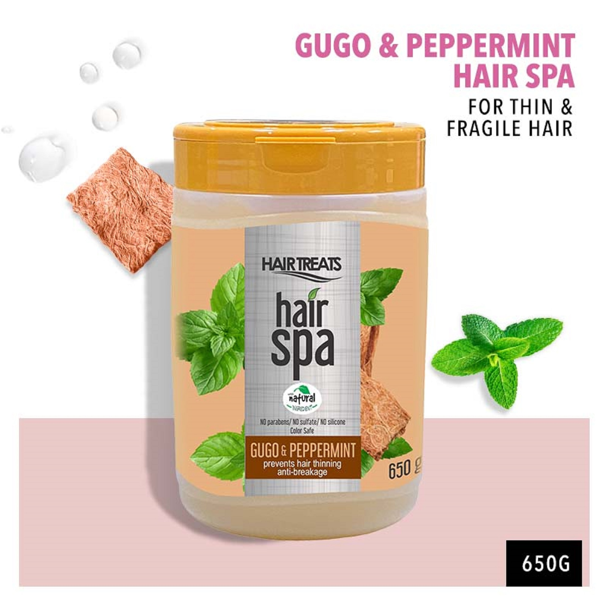 Hair Spa Gugo with Peppermint 650g