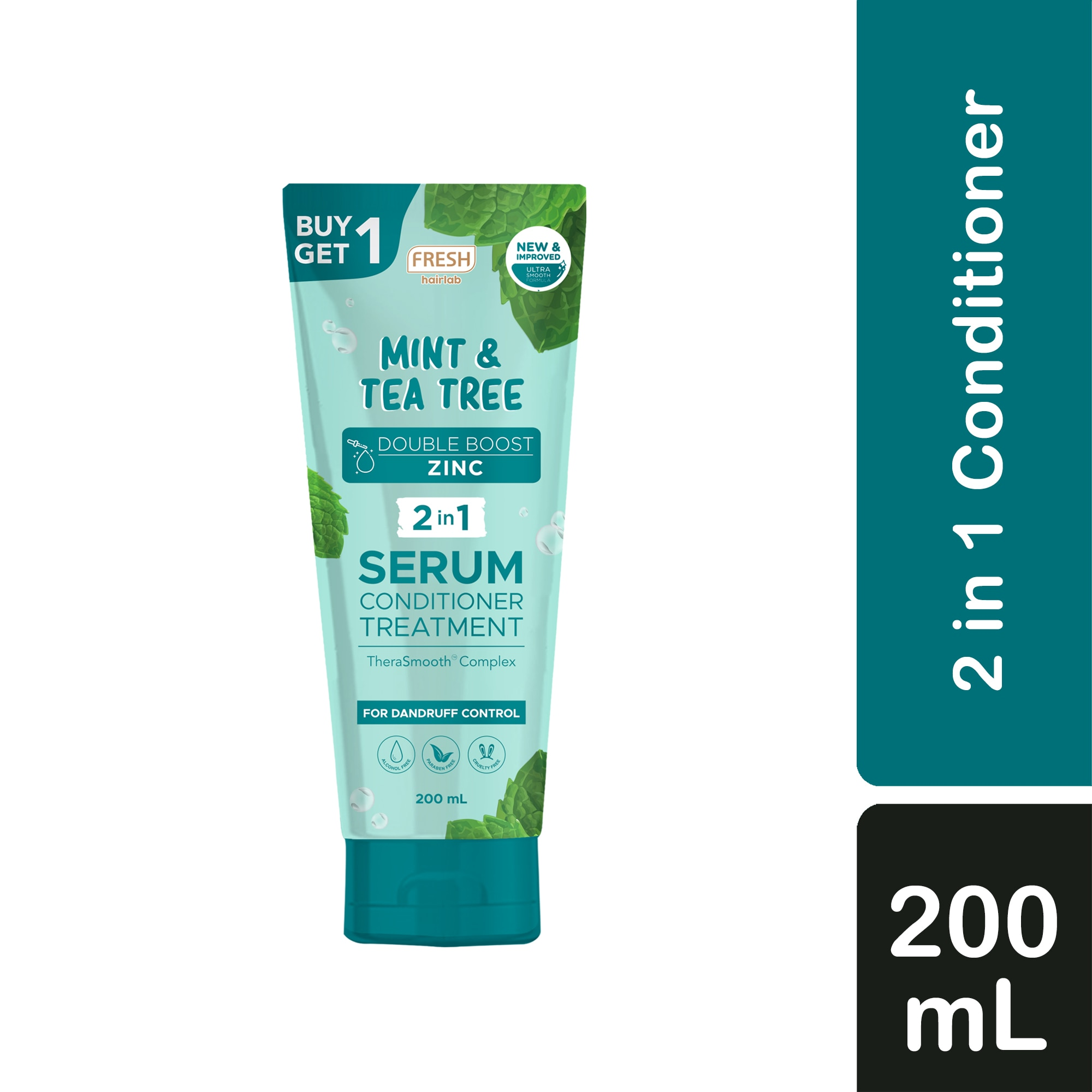 Hairlab Mint and Tea Tree Double Boost Zinc 2 in 1 Serum Conditioner Treatment 200ml