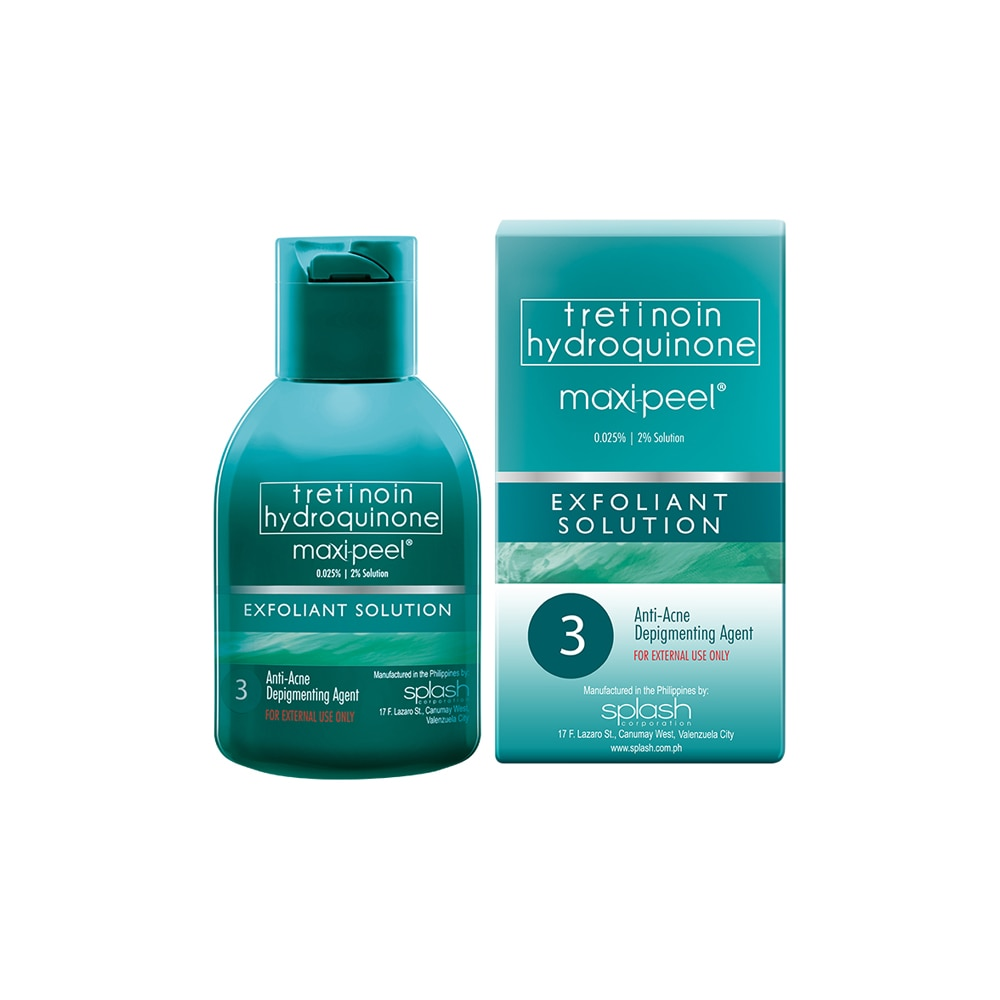 MAXI PEELExfoliant Solution #3 30ml,For WomenFree (1) Watsons Dermaction Plus Antiacne St20x2 for every purchase of Skin Care products
