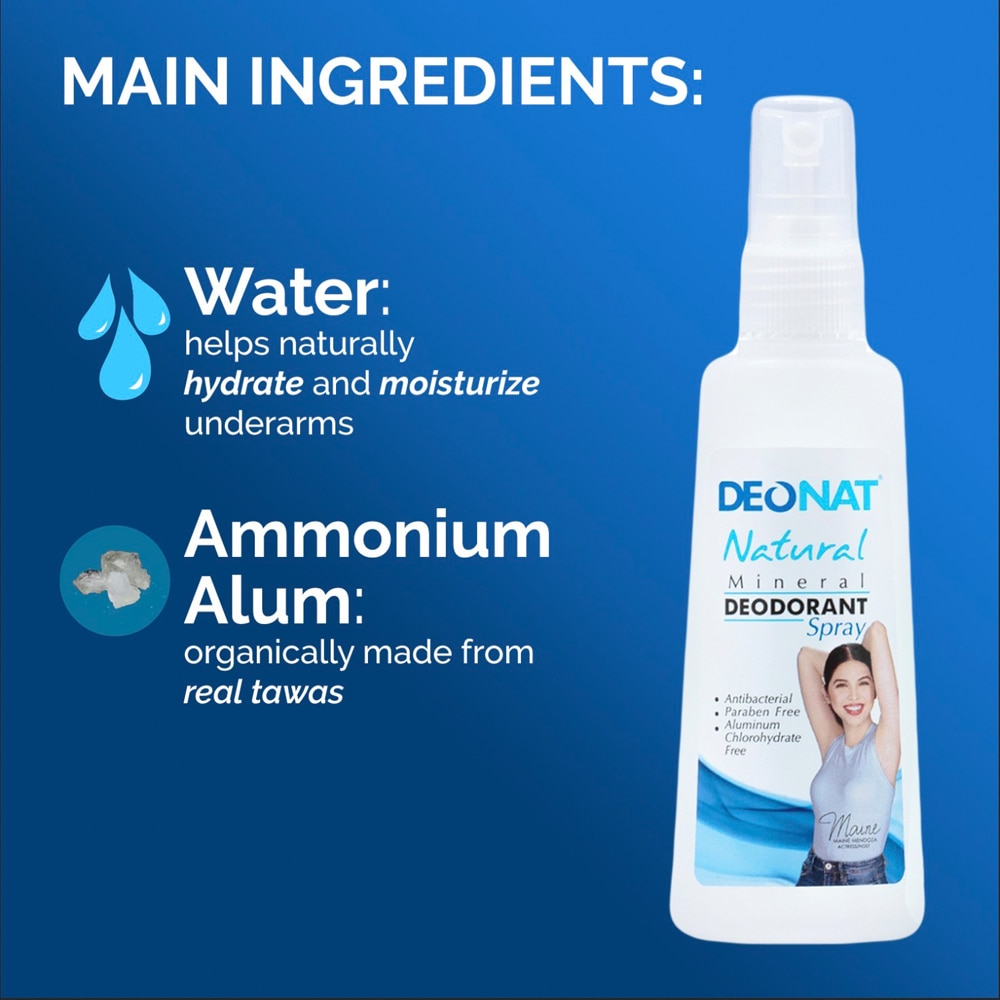 DEO NATNatural Mineral Deodorant Spray 100ml,DeodorantBest Selling Products