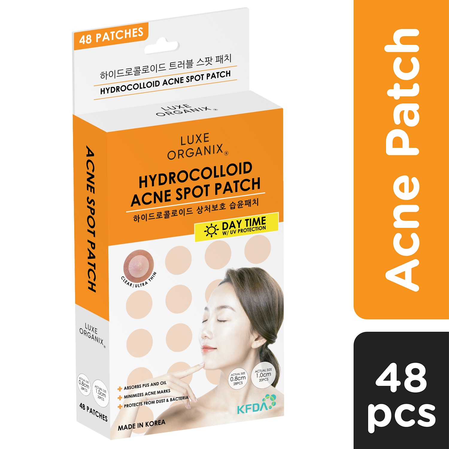 LUXE ORGANIXLuxe Organix Hydrocolloid Acne Patch Day Time 48s,Facial TreatmentClean Beauty